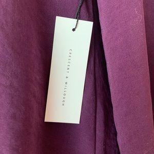Crescent & Willough Tops - Crescent & Willough Purple Women's Blouse Size S